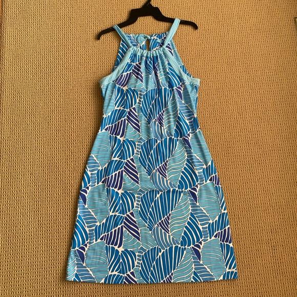 J.McLaughlin Nylon Spandex Dress- Blue- Small